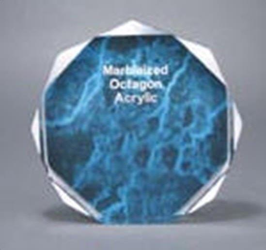 Blue Marble Octagon Acrylic Award