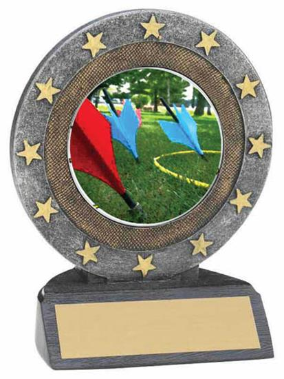 Lawn Dart Resin Trophy