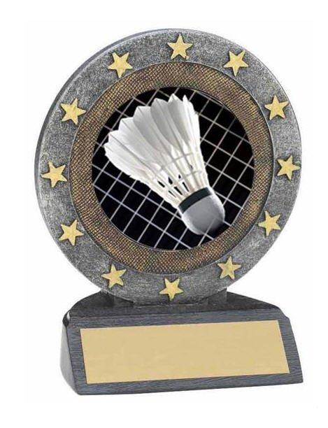 Badminton Resin Trophy