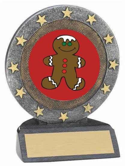 Gingerbread Man Resin Trophy