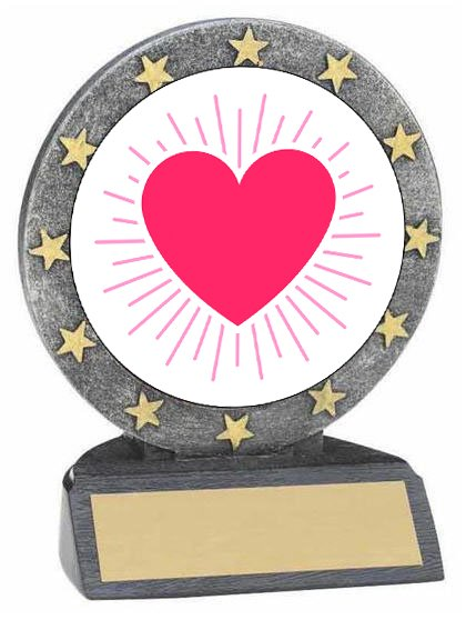 Valentine's Day Resin Trophy