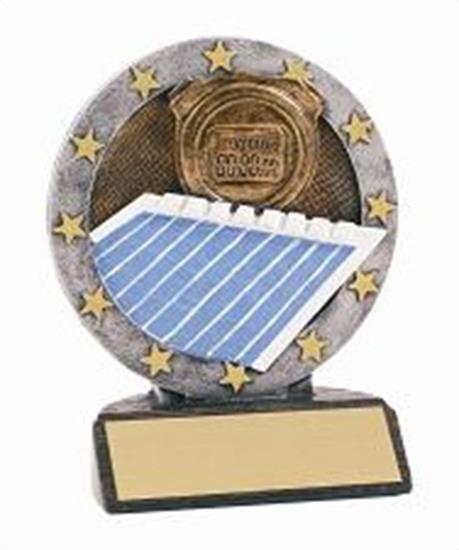 Swimming Resin Figure Trophy