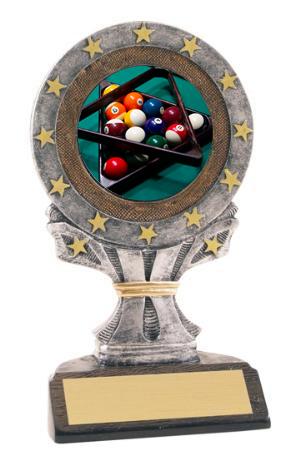 Billiards All Star Resin Trophy