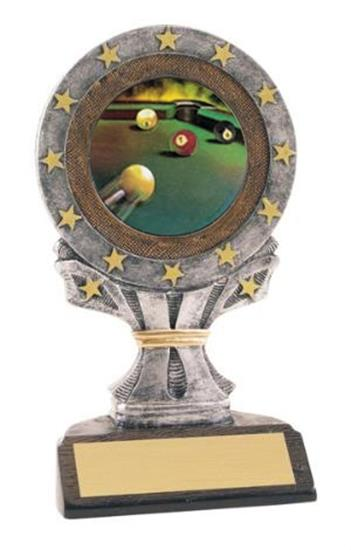 Billiards All Star Resin Trophy