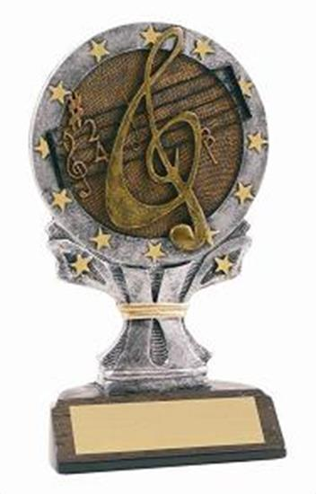 Music 6 1/4 Tall Resin Trophy