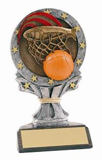 Basketball 6 1/4 Tall Resin Trophy