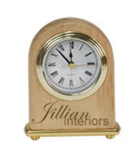 Red Adler Arched Clock