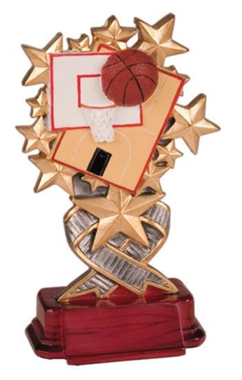 Basketball Starburst Resin Trophy