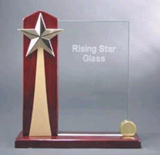 Rising Star Acrylic Award with Piano Finish Base