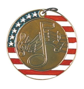 Music Red White and Blue Medal