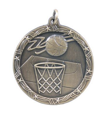 Basketball Star Medal 2 3/4 Inch