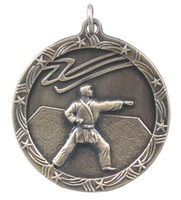 Karate Star Medal 2 3/4 Inches