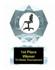 Christmas Cubicle Clear Star Award