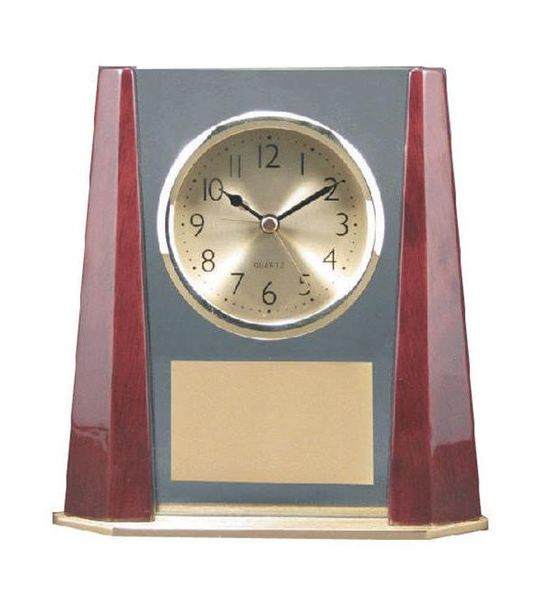 Clock with Bevel Columns