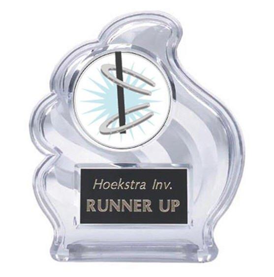 Sculpted Wave Horseshoe Trophy