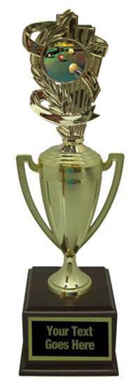 Billiard 1 Gold Cup Trophy