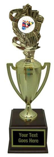 Billiard 2 Gold Cup Trophy