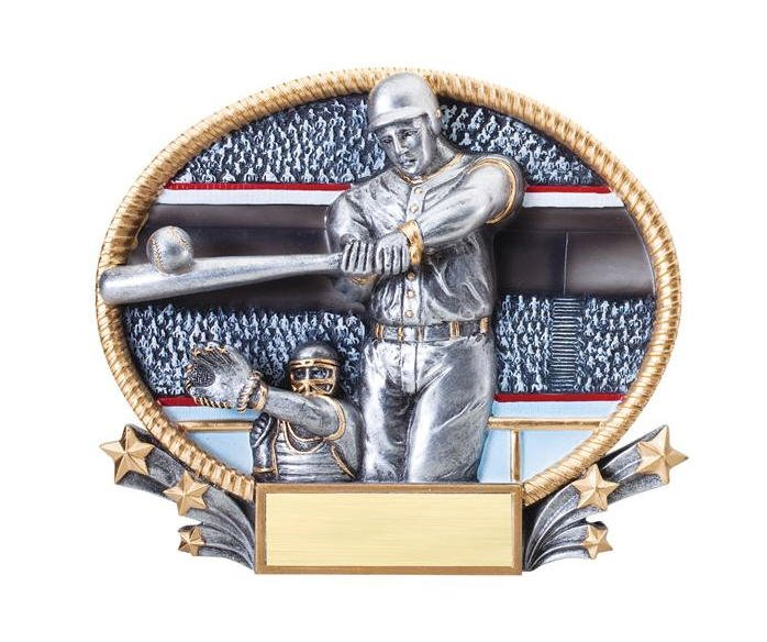 Baseball Small 3D Oval Trophy