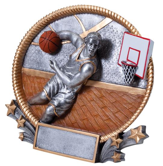 Basketball Player 3D Oval Trophy