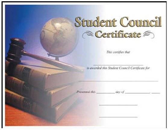 Student Council Certificate