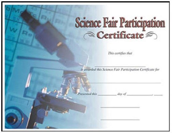 Science Fair Certificate