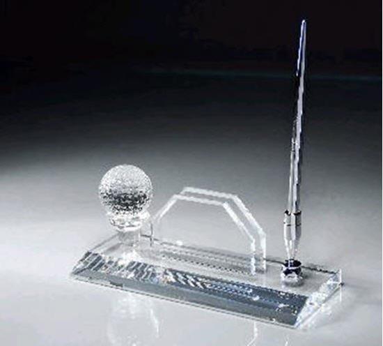 Crystal Golf Ball Pen Set