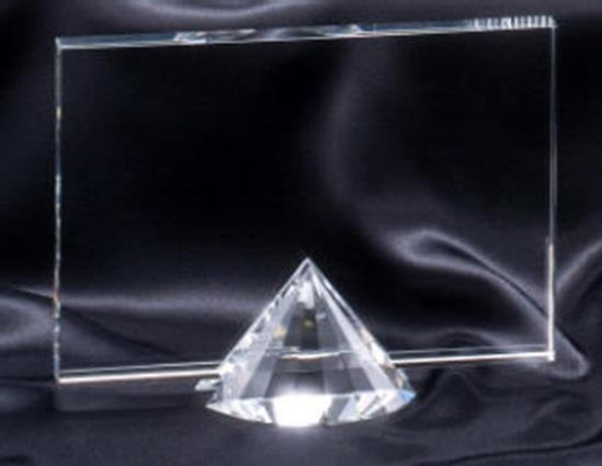 Crystal Rectangle with Diamond Base