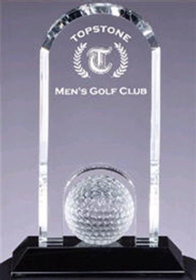 Crystal Golf Ball and Stand Award