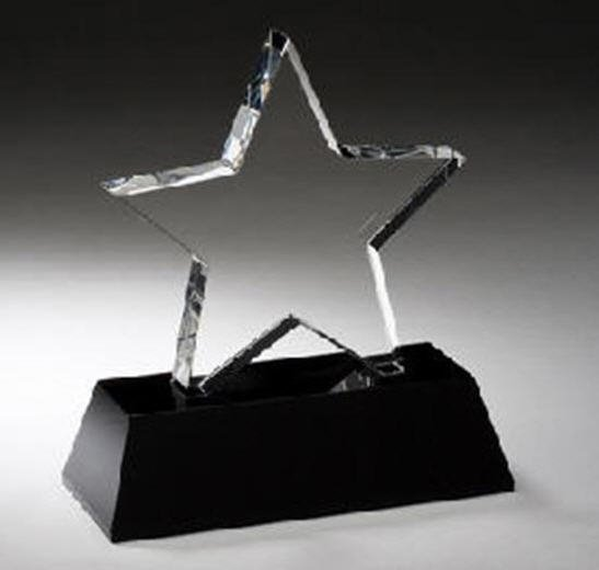 Black Pedestal Crystal Star Award