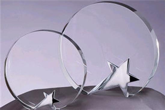 Circle Star Crystal Award