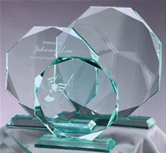 Octagon Jade Glass Award
