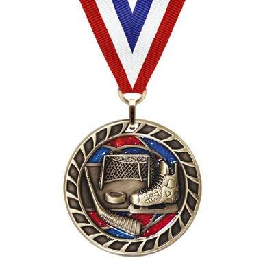 Hockey Glitter Medal
