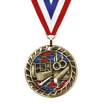 Gymnastics Glitter Medal