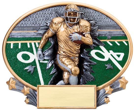 Football Explosion Oval Trophy