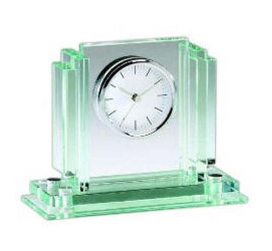 Jade Glass Clock 7x6x3