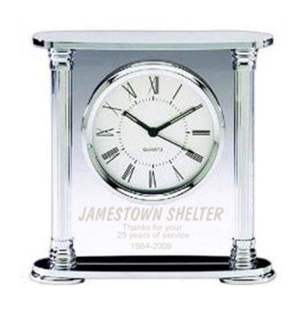 Chrome Acrylic Clock Q412
