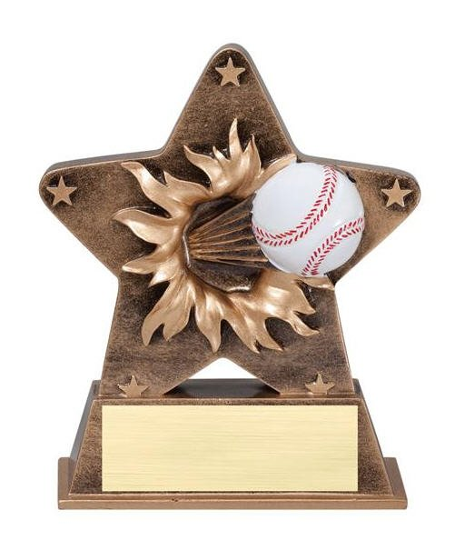 Baseball Starburst Stand Resin