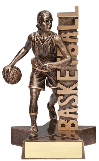 Basketball Female Player Billboard Trophy