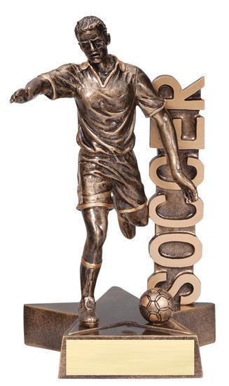 Male Soccer Player Billboard Trophy