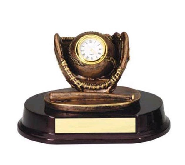 Baseball Clock Trophy