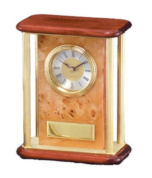 Burlwood Piano Finish Desk Clock