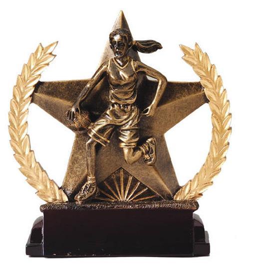 Female Basketball Star Trophy