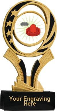 Air Hockey Midnite Star Resin Trophy