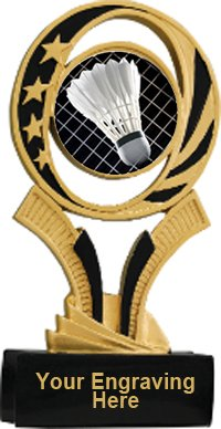 Badminton Midnite Star Resin Trophy