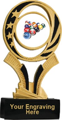 Billiards Midnight Star Resin Trophy