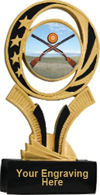 Sporting Clay Midnite Star Resin Trophy