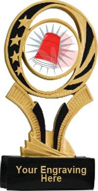 Flip Cup Midnite Star Resin Trophy