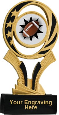 Football Midnite Star Resin Trophy