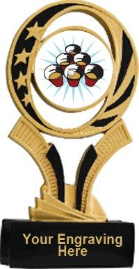 Beer Pong Midnite Star Resin Trophy