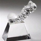Crystal Kick Soccer Ball Award